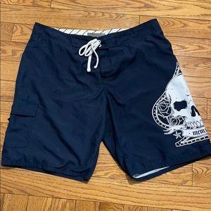Host Pick Old Navy XL Swim Short blue skull design